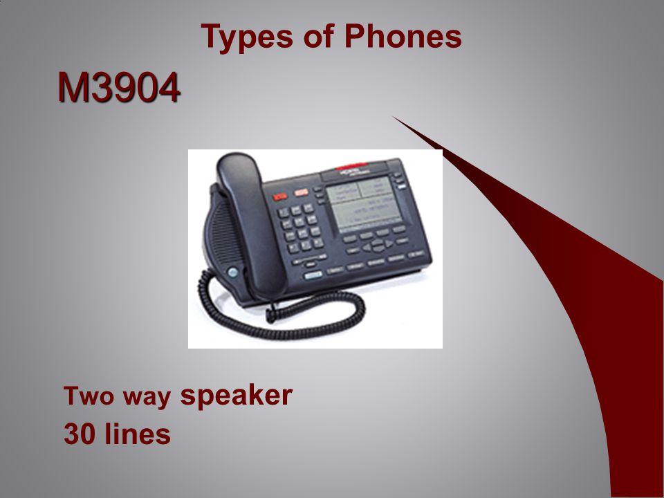 M3904 Two way speaker 30 lines Types of Phones