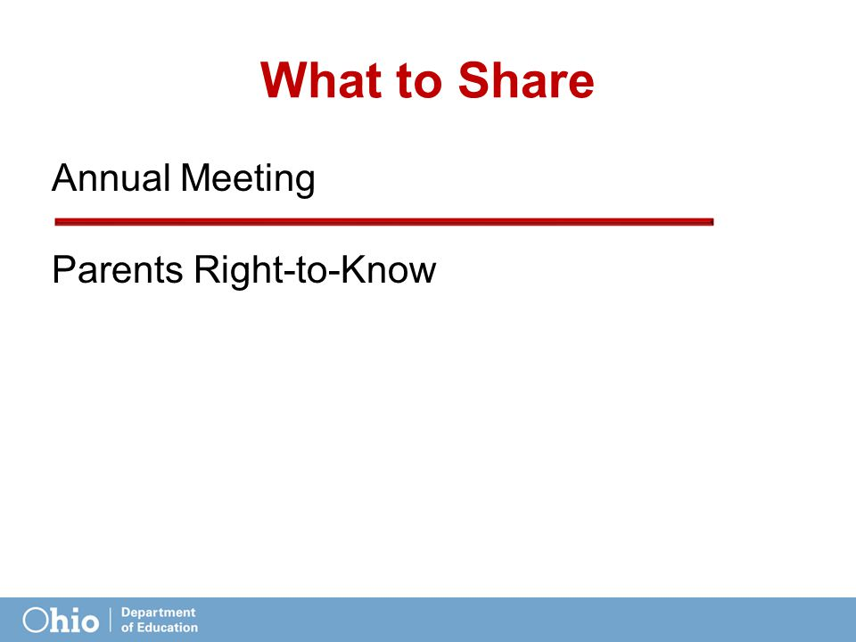 What to Share Annual Meeting Parents Right-to-Know