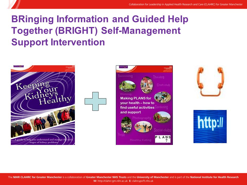 BRinging Information and Guided Help Together (BRIGHT) Self-Management Support Intervention