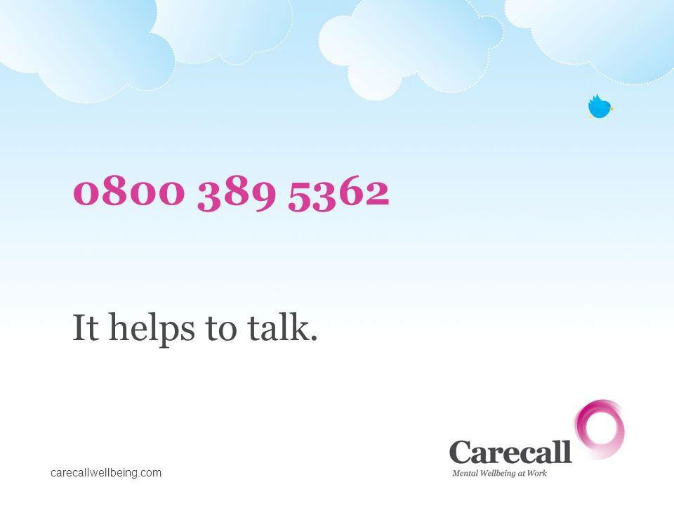0800 389 5362 It helps to talk.