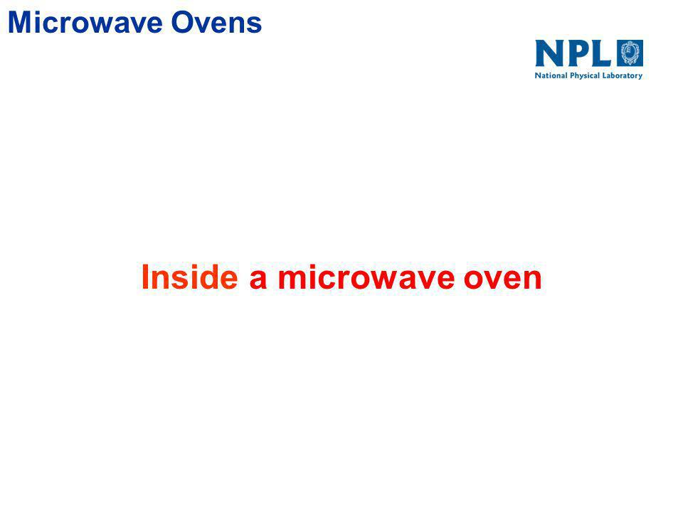 Microwave Ovens Summary A microwave oven cooks food by heating it The heating comes from intense waves at 2.45 GHz (Instead of a wide spectrum of waves at infra red frequencies) Frequency chosen because of absorption properties of water molecules at that frequency.