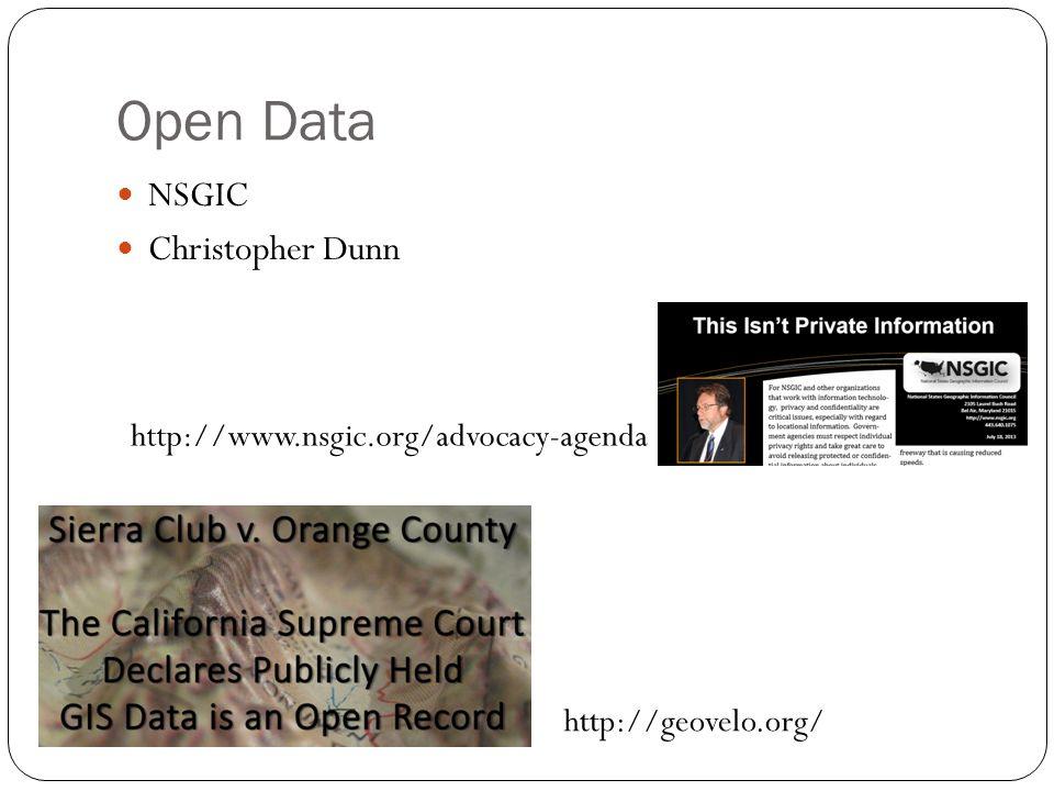 35 Open Data NSGIC Christopher Dunn http://geovelo.org/ http://www.nsgic.org/advocacy-agenda