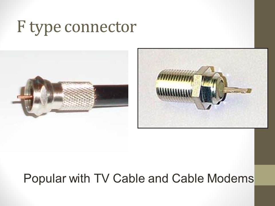 F type connector Popular with TV Cable and Cable Modems