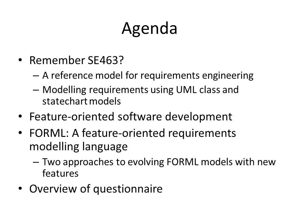 Agenda Remember SE463.