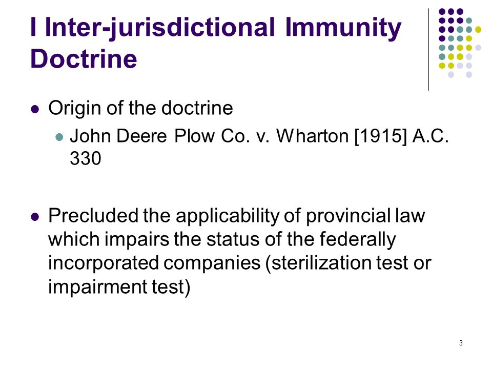14 Inter-jurisdiction immunity doctrine is against the predominant tide of constitutional interpretation.