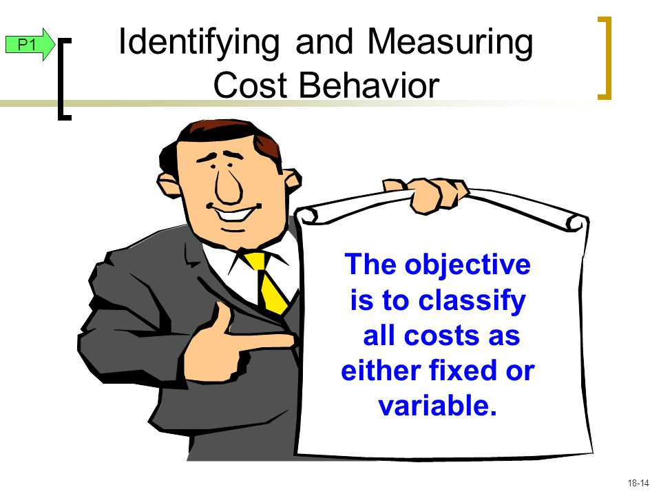 The objective is to classify all costs as either fixed or variable.