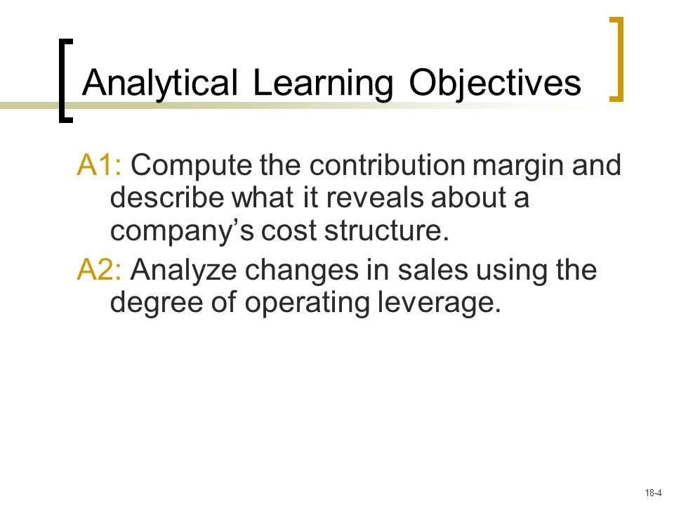 A1: Compute the contribution margin and describe what it reveals about a companys cost structure.
