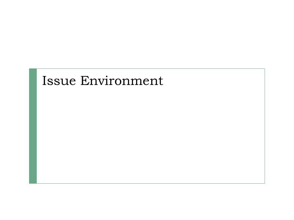 Issue Environment