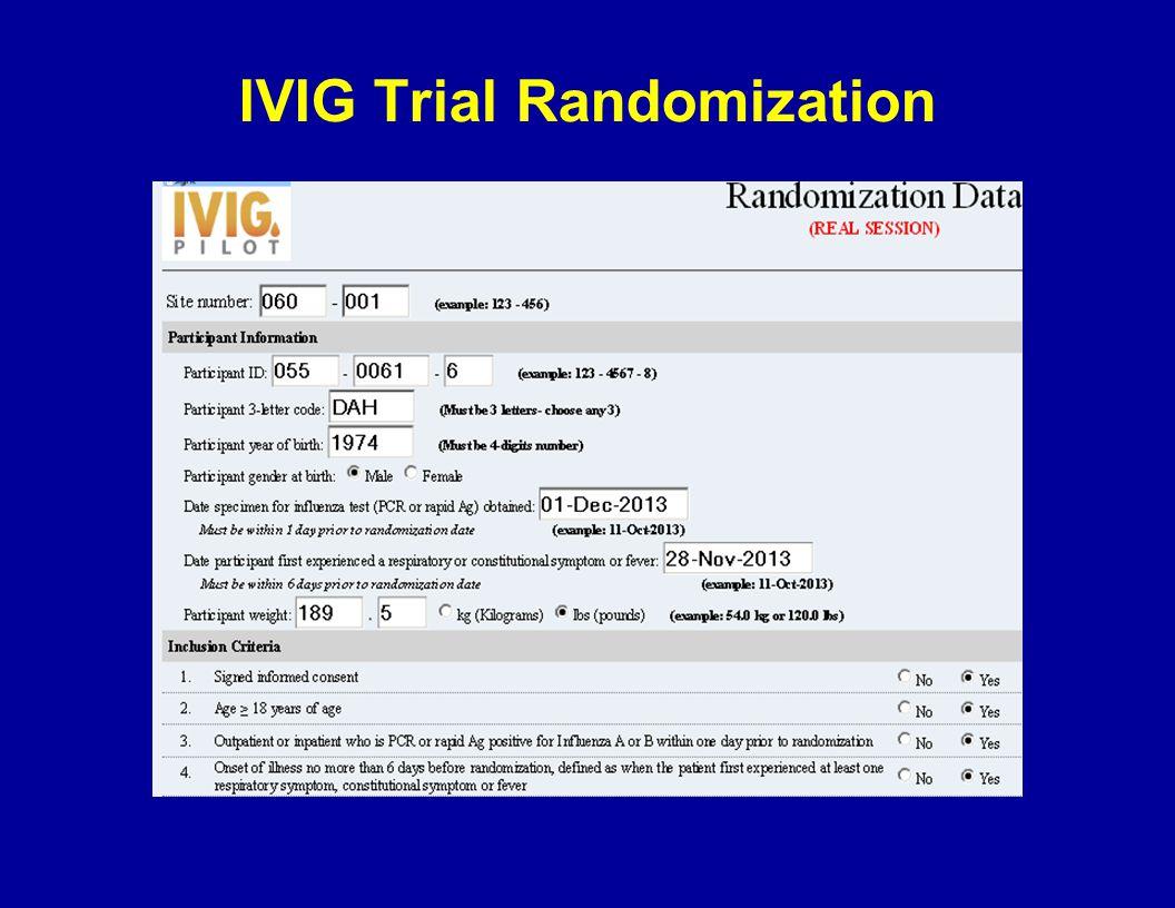IVIG Trial Randomization