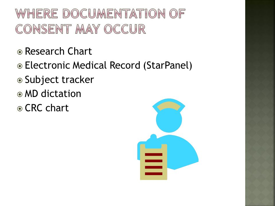 Research Chart Electronic Medical Record (StarPanel) Subject tracker MD dictation CRC chart