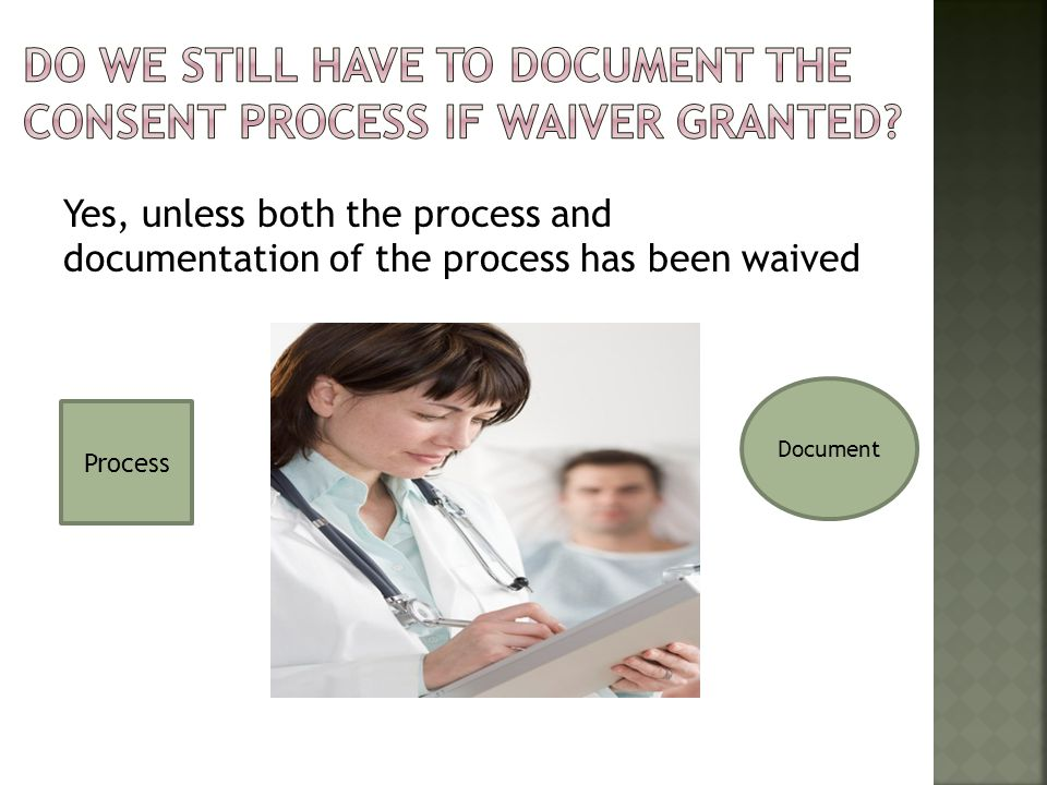 Document consent obtained prior to study procedures conducted