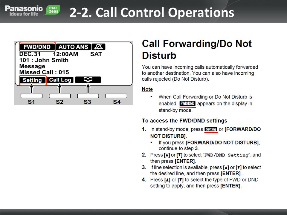 2-2. Call Control Operations