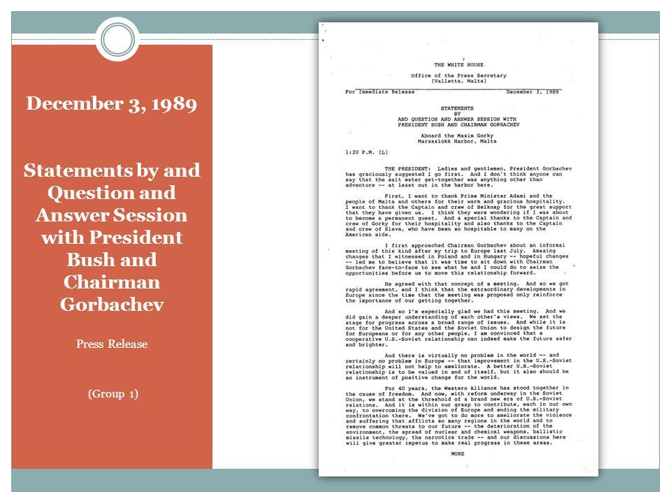 September 9, 1990 President Bush and President Gorbachev Memorandum of Conversation