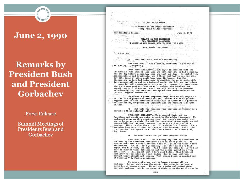 October 1, 1990 President Bush and Eduard Shevardnadze Memorandum of Conversation