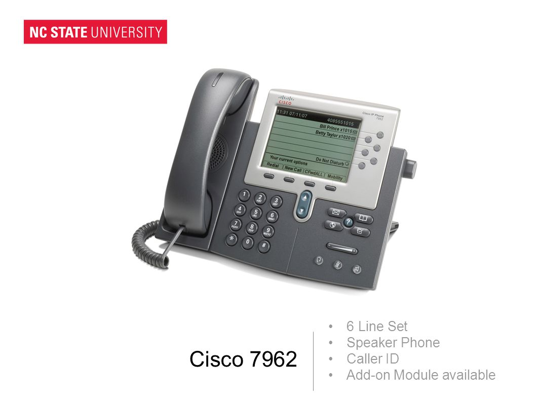 Cisco 7962 6 Line Set Speaker Phone Caller ID Add-on Module available