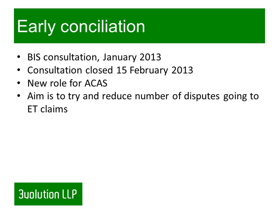Early conciliation - how will it work.
