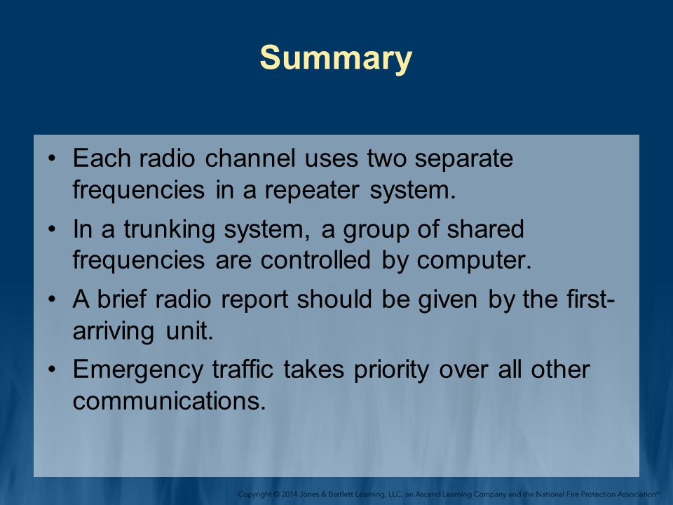 Summary Each radio channel uses two separate frequencies in a repeater system.