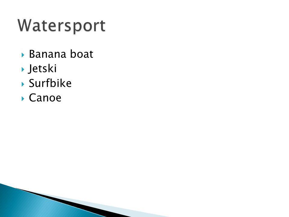 Banana boat Jetski Surfbike Canoe