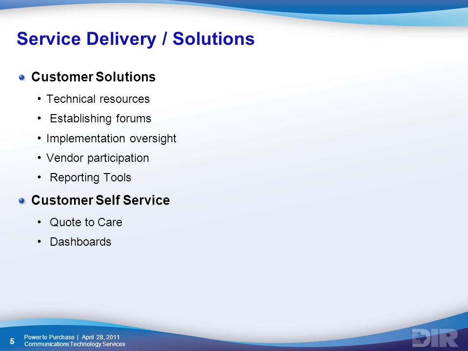 Power to Purchase | April 28, 2011 Communications Technology Services 16 Tex-AN NG Customer Service Request Portal