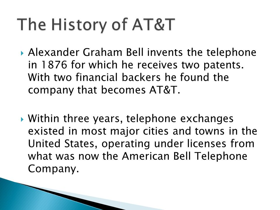 Alexander Graham Bell invents the telephone in 1876 for which he receives two patents.