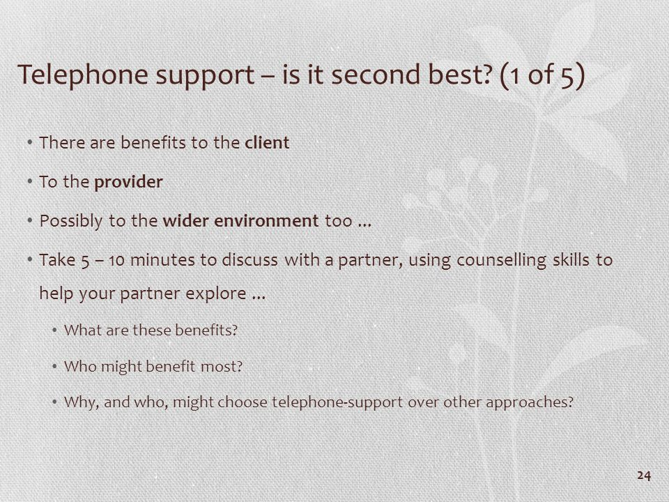 Telephone support – is it second best.