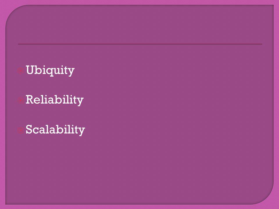 Ubiquity Reliability Scalability