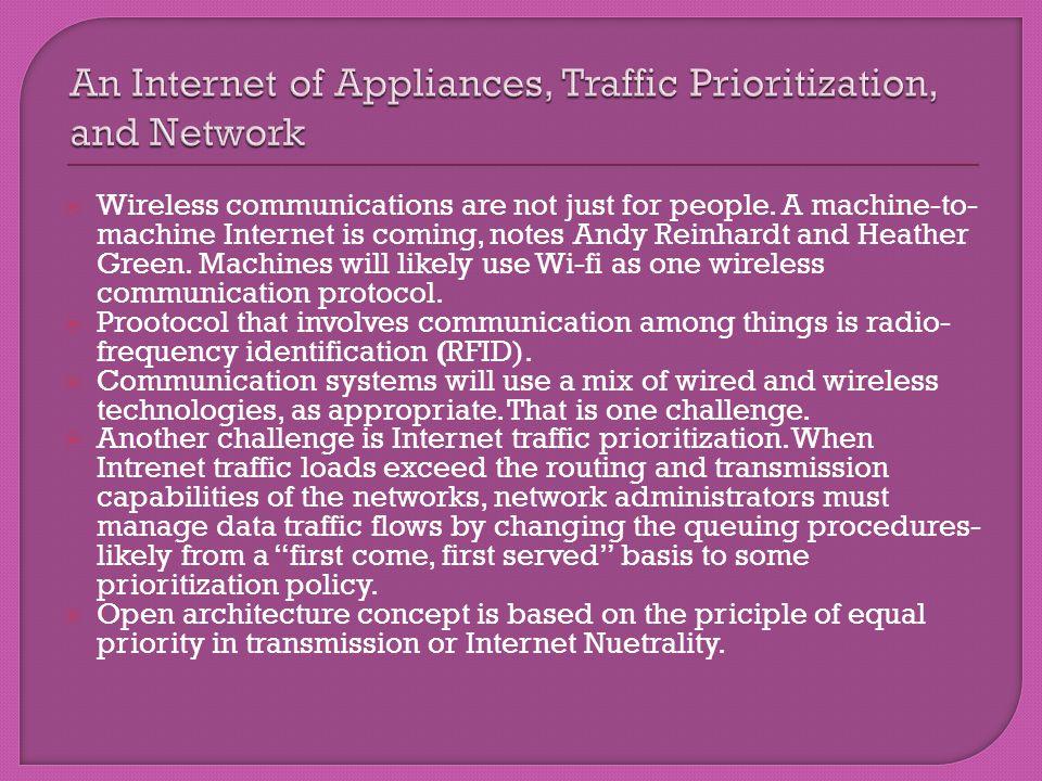 Wireless communications are not just for people. A machine-to- machine Internet is coming, notes Andy Reinhardt and Heather Green. Machines will likel