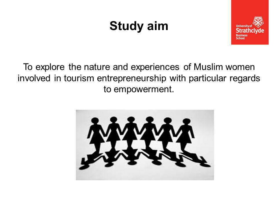 To explore the nature and experiences of Muslim women involved in tourism entrepreneurship with particular regards to empowerment.