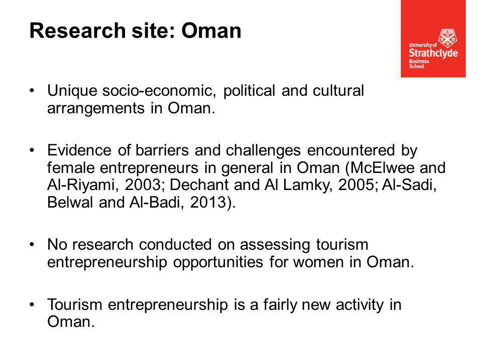 Unique socio-economic, political and cultural arrangements in Oman.