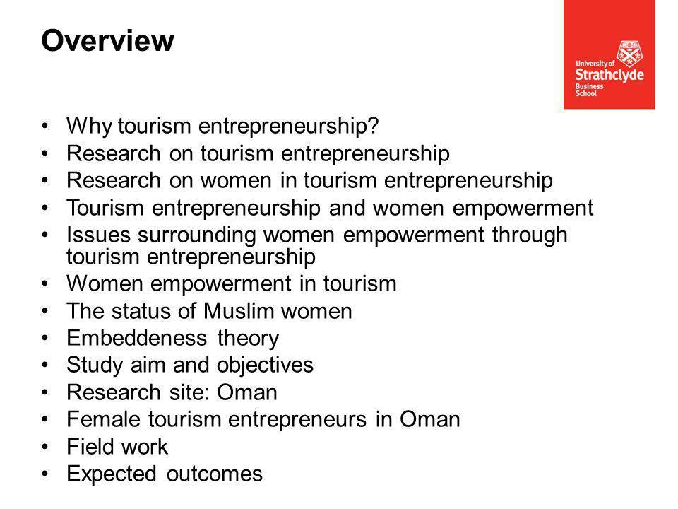 Why tourism entrepreneurship.
