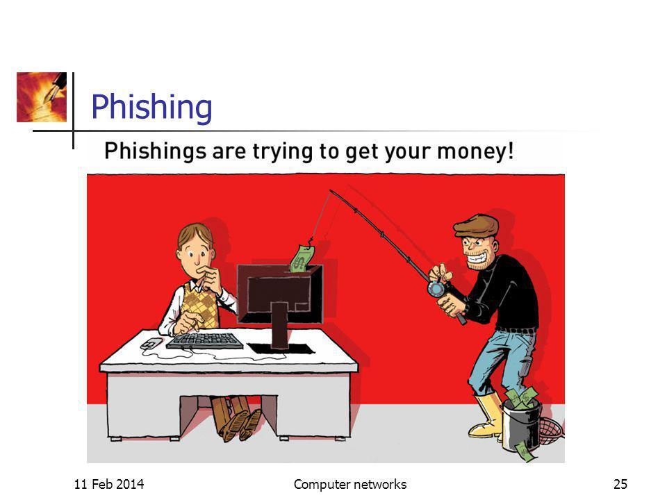 11 Feb 2014Computer networks25 Phishing