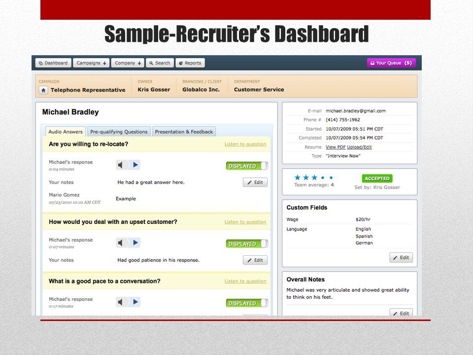 Sample-Recruiters Dashboard