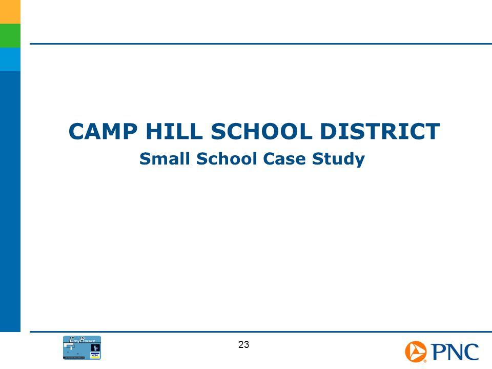 CAMP HILL SCHOOL DISTRICT Small School Case Study 23