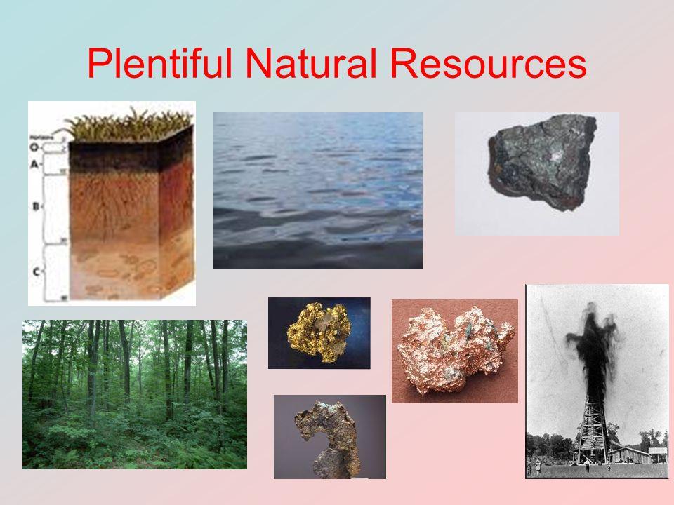 Plentiful Natural Resources