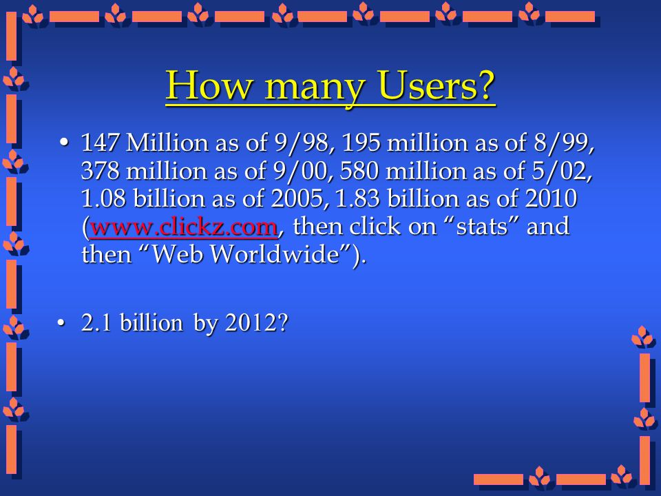 How many Users.