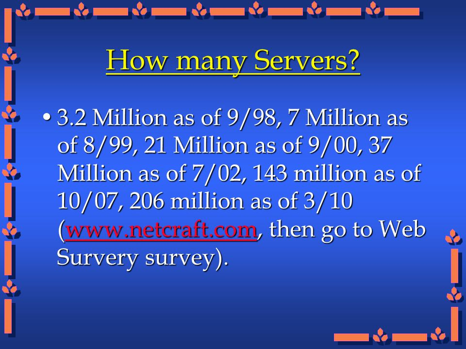 How many Servers.