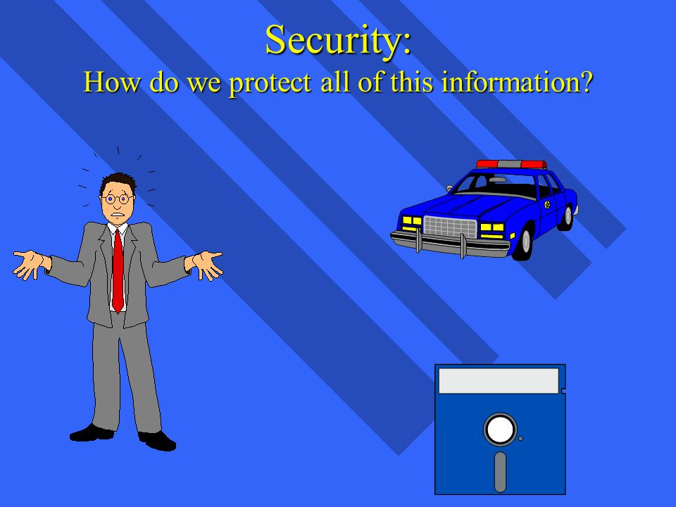 Security: How do we protect all of this information