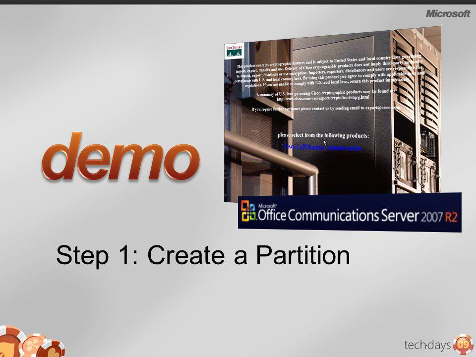 Step 1: Create a Partition