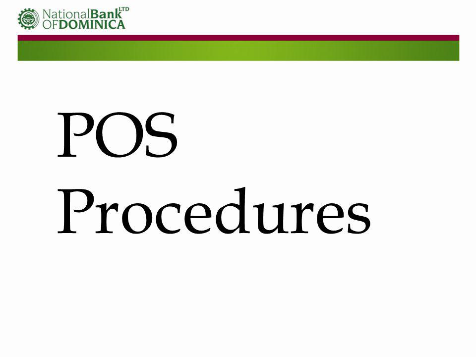 POS Procedures