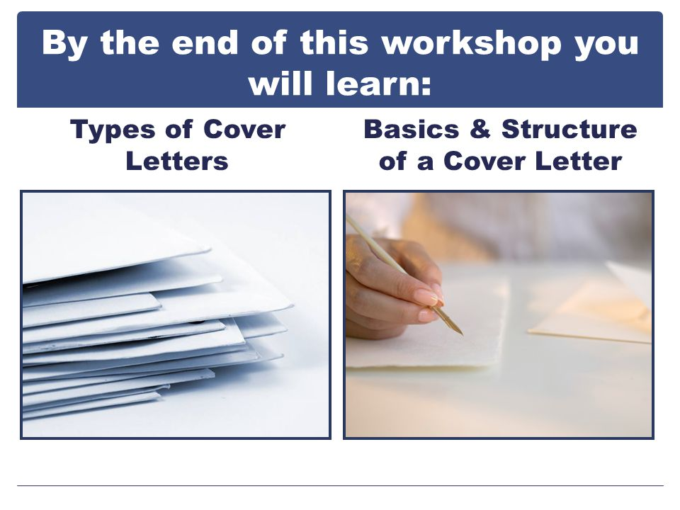 Lets talk about types of cover letters…