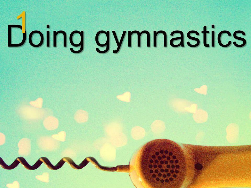 Doing gymnastics 1