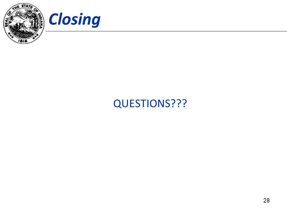 Closing QUESTIONS 28