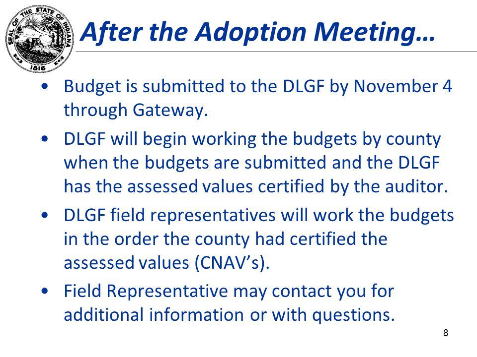 Contact the Department Dan Jones, Assistant Director of DLGF Budget Division Telephone: 317.232.0651 Fax: 317.974.1629 E-mail: djones@dlgf.in.gov@dlgf.in.gov Web site: www.in.gov/dlgfwww.in.gov/dlgf Contact Us: www.in.gov/dlgf/2338.htm.www.in.gov/dlgf/2338.htm 29