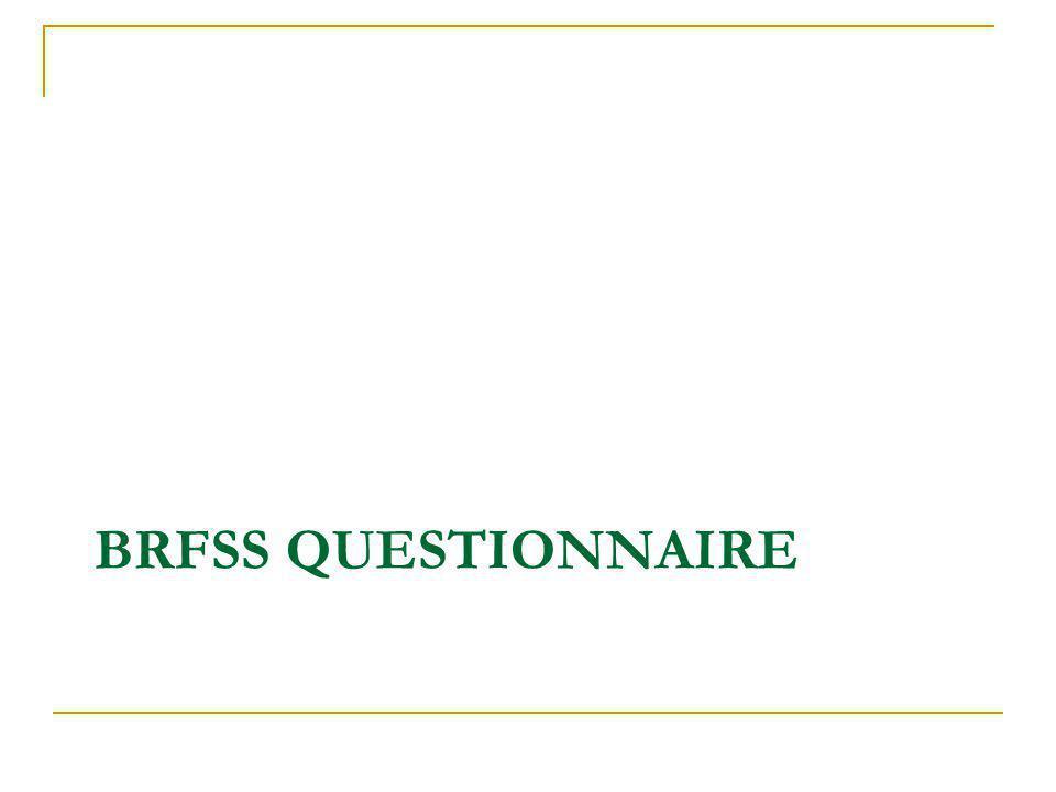 BRFSS QUESTIONNAIRE