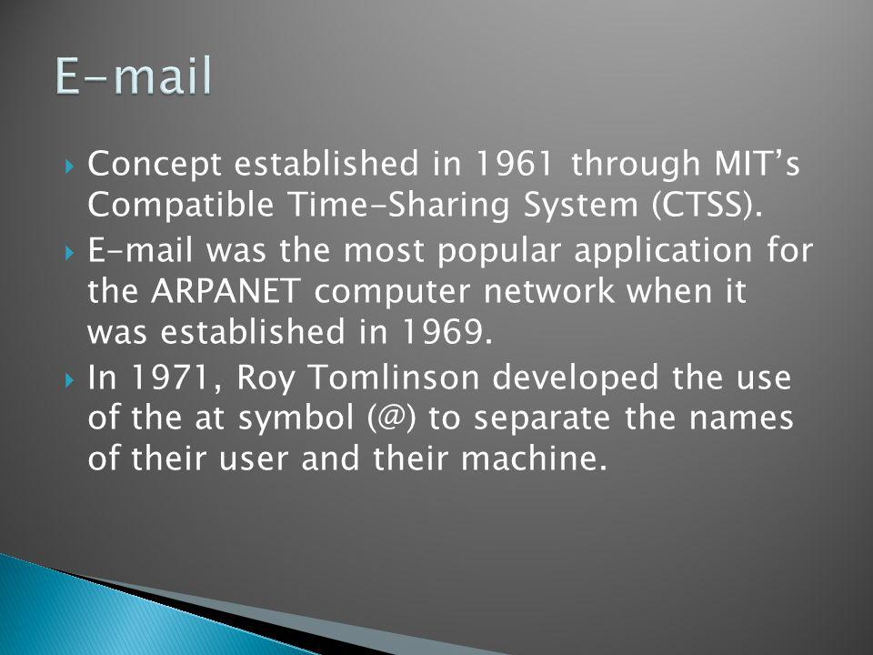 Concept established in 1961 through MITs Compatible Time-Sharing System (CTSS).