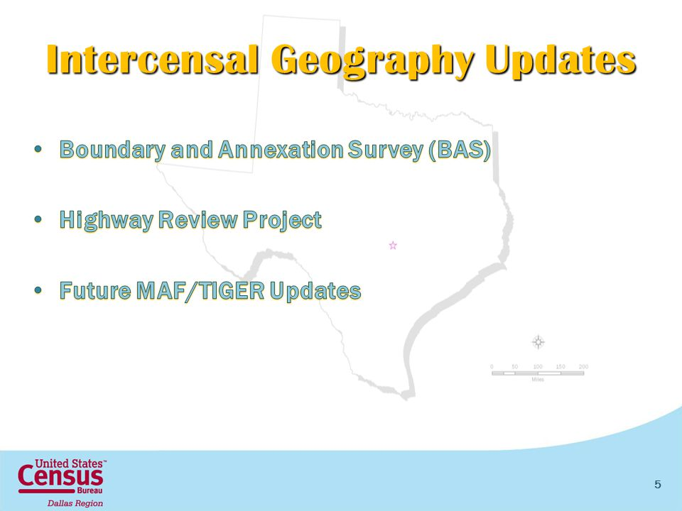 Intercensal Geography Updates 5