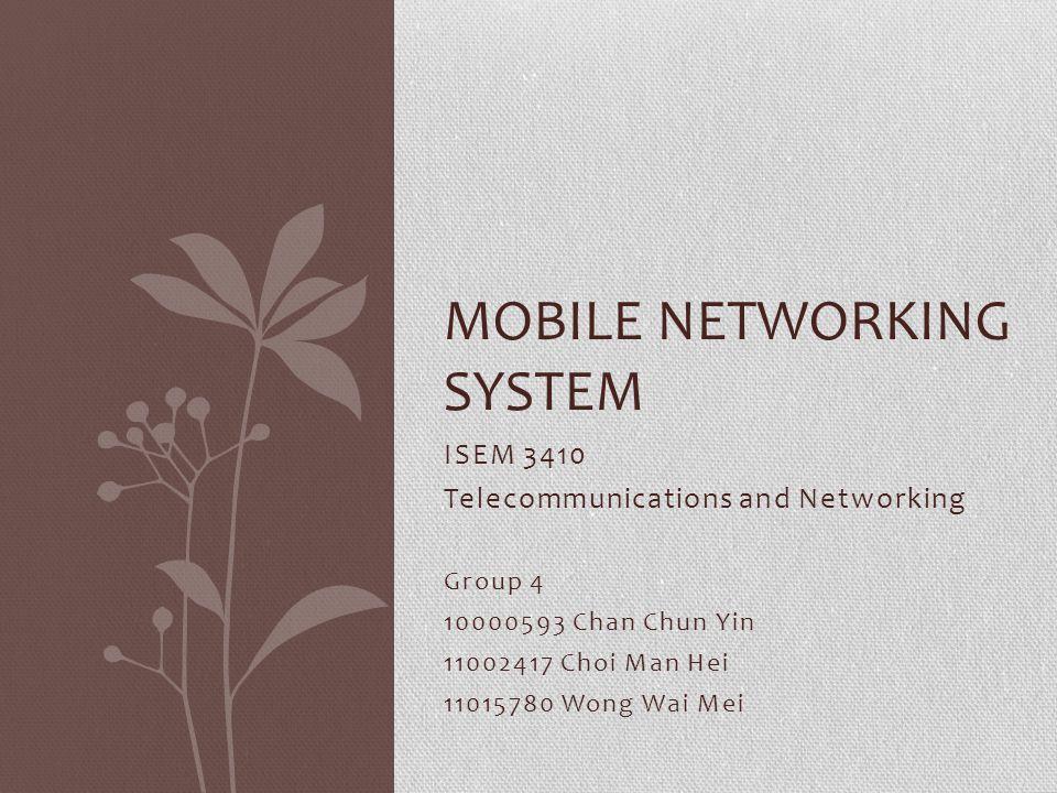 Agenda 1.Mobile usage phenomena 2. Mobile networking system concept 3.