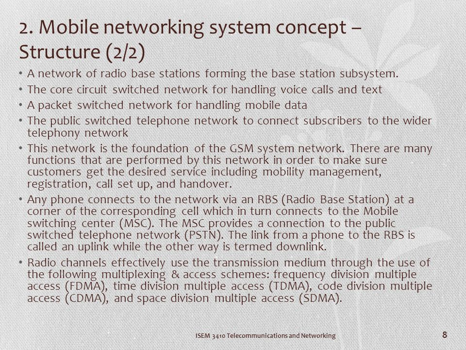 ISEM 3410 Telecommunications and Networking 9 3.