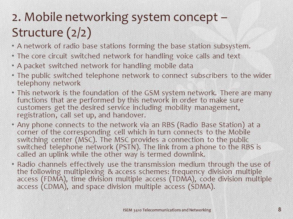 8. Future expectation 8. Future expectation (1/6) ISEM 3410 Telecommunications and Networking 19