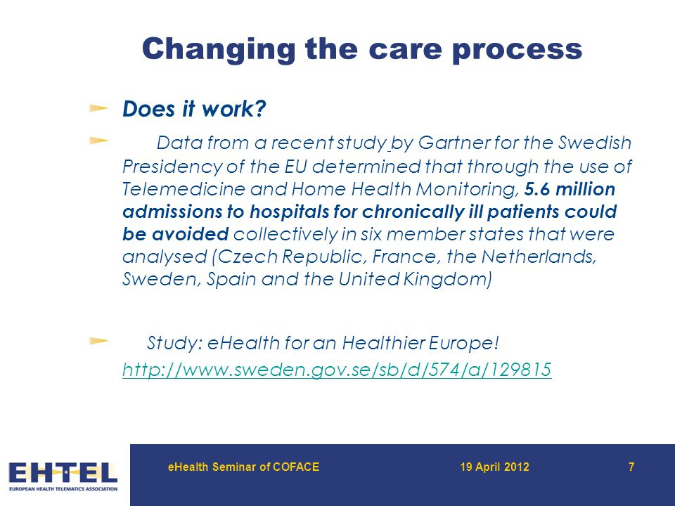 Thank you for your attention More at www.ehtel.eu www.renewinghealth.eu www.commonwell.eu www.independent-project.eu Marc Lange Secretary general EHTEL Association M.E.P.S.